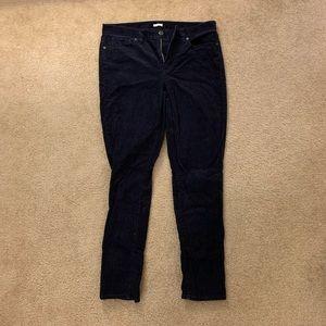 JCrew Toothpick Navy Corduroy Pant Size 31